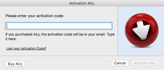 airy activation code 2.1.206